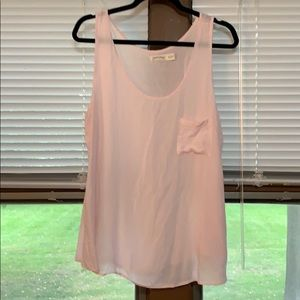 Light pink tank top with pocket